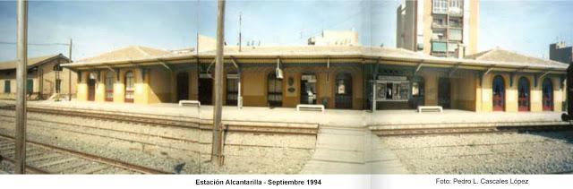 Estación FF CC Alcantarilla Septiembre 1994 foto Pedro L Cascales López
