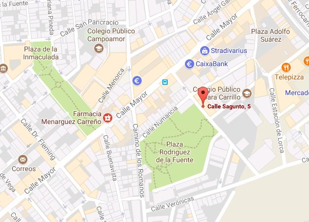 calle sagunto mapa google